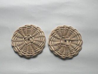 籐のコースターの画像
