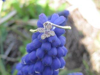菫のSV天然石リングの画像