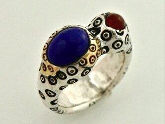瓢箪風目玉紋指輪の画像