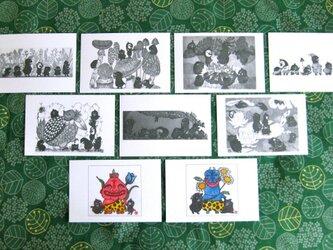 もこもんず ポストカード8枚セットの画像