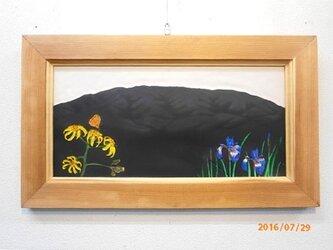なつかしの山・思い出の花シリーズ「櫛形山・マルバダケブキ・アヤメ」の画像
