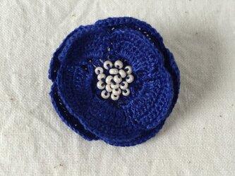 flower brooch C - ブルー➀の画像