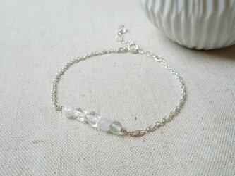 【SV925】 水と氷のクォーツ・ブレスの画像