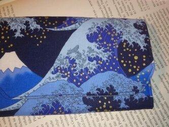 蛇腹カードケース  富士と波の画像