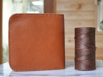 シンプルな折財布A No.1 イタリアンレザーの画像