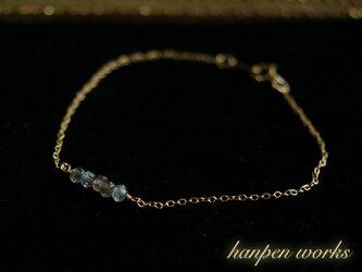 14kgf 宝石質 ラブラドライト ブレスレットの画像