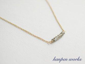 14kgf 宝石質 ラブラドライト ネックレスの画像