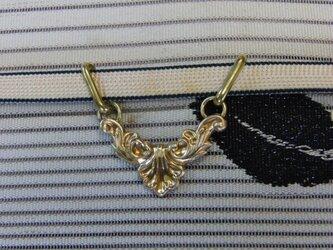 真鍮ブラス製 吊り下げモダンデザイン帯留め 着物や浴衣の帯締め飾り・ブレスレット飾りにの画像