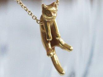 グリとラテュの猫ペンダント グリ(アンティークゴールド)の画像