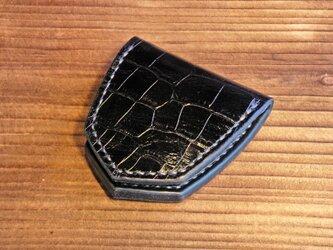 コインケース  - クロコダイル型押しイタリア産高級レザー※受注制作の画像