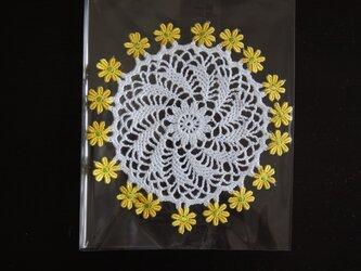 花のドイリーの画像