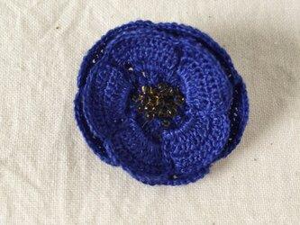 flower brooch C - ブルー➂の画像