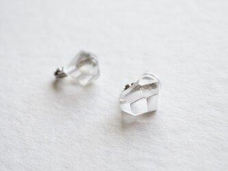 ice earrings < clear >の画像