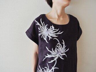 チュニックブラウス紫 <乱菊>の画像