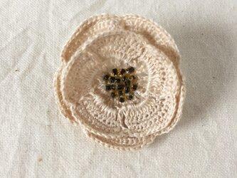 【受注生産】flower brooch C - オフホワイト②の画像