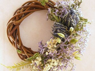 purple wreathの画像