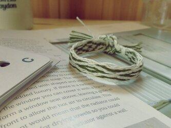 カード織りのブレス グリーンの画像