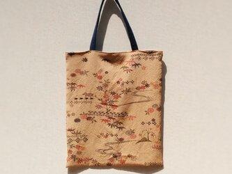 柿渋染の手提げ袋 の画像