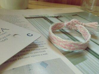 カード織りのブレス ピンクの画像
