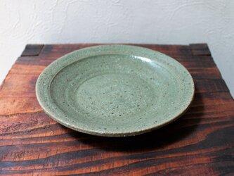 御影グリーングレー皿の画像