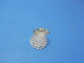 K18ダイヤモンドリング三輪の画像