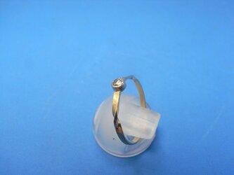 K18 0,1キャラダイヤモンドプチリング ひねりの画像