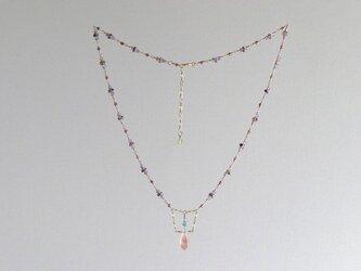 ストロベリークォーツのネックレスの画像