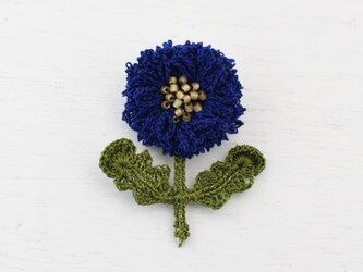 flower brooch B - ダークブルーの画像