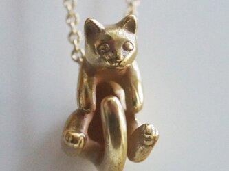 グリとラテュの猫ペンダント ラテュ(アンティークゴールド)の画像