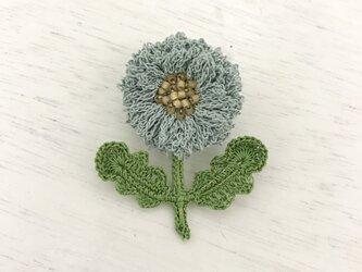flower brooch B - ライトブルーの画像