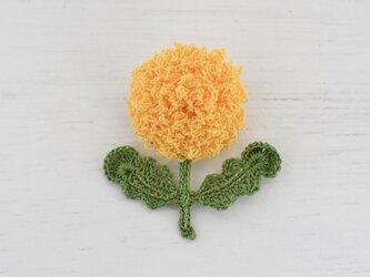 flower brooch A - きいろの画像