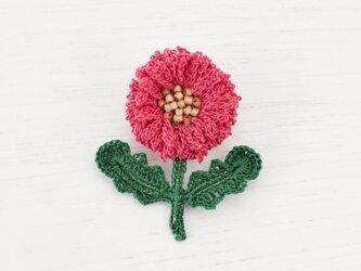 flower brooch B - ローズピンクの画像