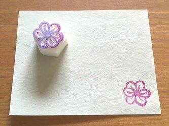 お花の消しゴムはんこ③の画像