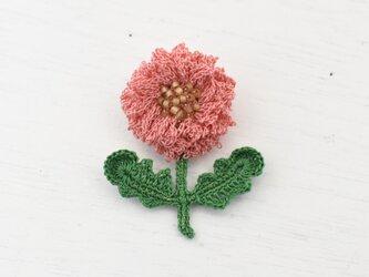 flower brooch B - ももいろの画像