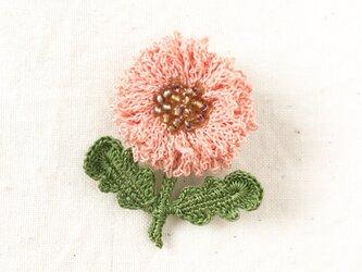 flower brooch B - ライトサーモンピンクの画像