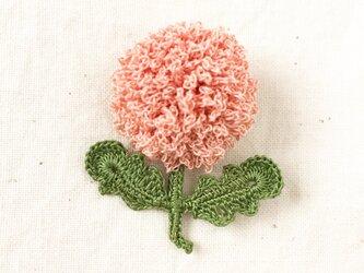 flower brooch A - ライトサーモンピンクの画像