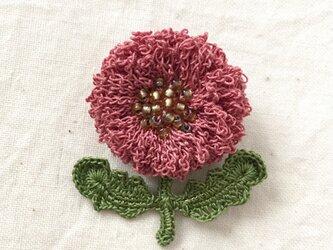 flower brooch B - モーヴピンクの画像
