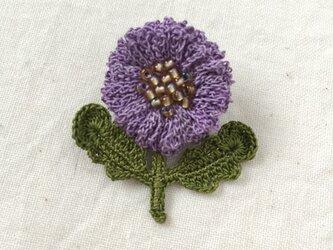flower brooch B - ラベンダーの画像