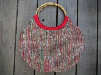裂き織り丸型バッグ NO2の画像