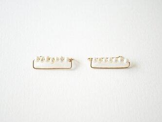 Small pearl ear clip 14kgf パール イヤークリップの画像