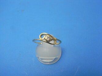 K18 0,1キャラダイヤモンドプチリング唐草の画像