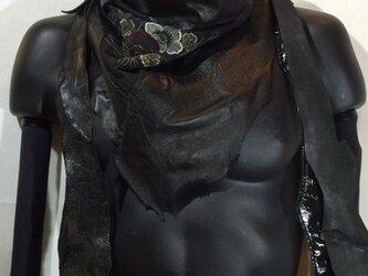 JIN  BAT STOLE  * 椿 着物&羊革 + 爪部は牛革の画像