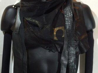 JIN  BAT STOLE  * 彩 着物&羊革 + 爪部は牛革の画像