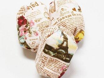お手玉 英字柄のたわら型6つセットの画像