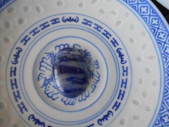青いソーダライト カボション 「sora to umi no aida] 非加熱 ナチュラル 40.65カラット アフリカ産の画像
