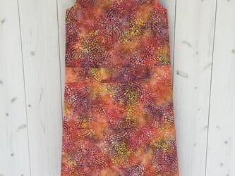 【SALE】ワンピース ハワイアンバテイック オレンジパープル 11号の画像