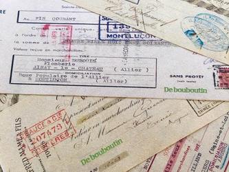 france1930年代(tourist)ticket wrappingpaper 20setの画像