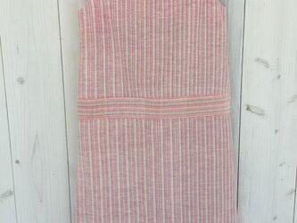 ワンピース ラオス 手織り ピンクの画像
