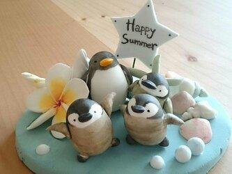 ペンギン♪プレートの画像