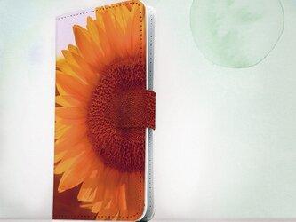 全機種対応 手帳型 スマホケース iPhoneXs iPhone9 iPhoneXs Max花柄 向日葵 サンフラワーの画像